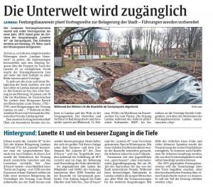 Bericht der Rheinpfalz vom 13.1.2014
