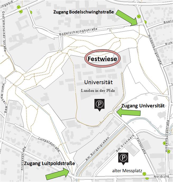 Lageplan Festwiese Fort Landau