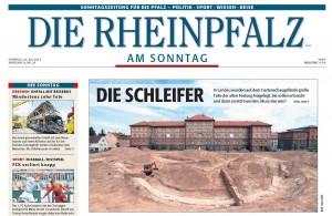 Titelseite Rheinpfalz am Sonntag 20.7.2014