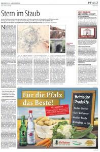 Bericht der Rheinpfalz am Sonntag zur Festung Landau