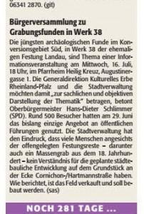 Vorankündigung der Rheinpfalz zur Bürgerversammlung am 16.7.2014