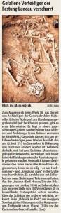 Rheinpfalz-Notiz Massengrab Lunette 38 28.6.2014