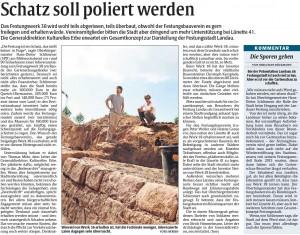 Rheinpfalz-Bericht zur Infoveranstaltung Lunette 38