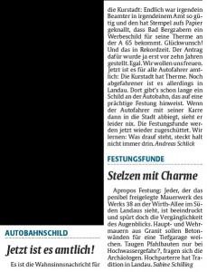 Meinungen im Wochenspiegel vom 2.8.2014