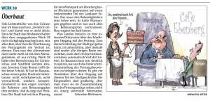 Rheinpfalz Kommentar zur Ueberbauung der Lunette38 vom 13.9.2014
