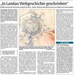 Rheinpfalz-Bericht Forderungen BUND zur Lunette 38
