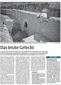 Bericht der Rheinpfalz zu den Funden an der Lunette 38