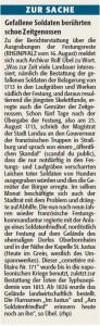 Kommentar Rheinpfalz zur Lunette 38 vom 19.8.2014