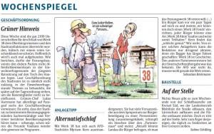 Wochenspiegel Rheinpfalz Kommentare zur Unterschriftenübergabe Lunette 38