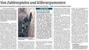 Zahlenspiele zur Stellungnahme des Vereins bzgl. der Unterschriftensammlung zum Erhalt der Landauer Festungsreste