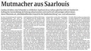 Rheinpfalz-Bericht Vortrag über Festung Saarlouis