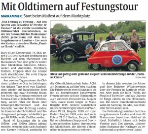 Rheinpfalz-Bericht Pamina Classic 2015