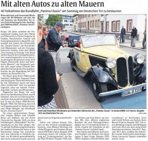Rheinpfalz-Bericht Pamina Classic am Deutschen Tor