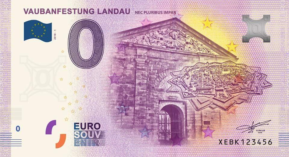 Null-Euro-Schein Vaubanfestung Landau 2018